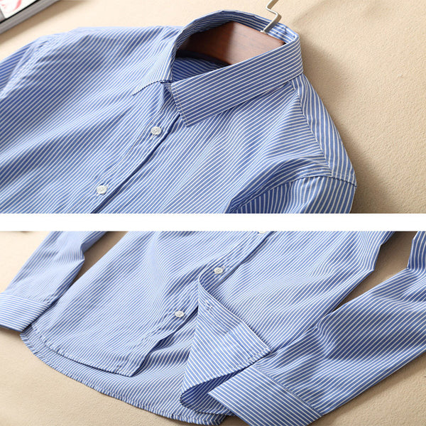 100% Cotton Striped Regular Fit Luxury Dress Shirt- S - XL