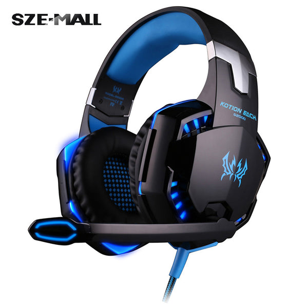Over-ear Game Headset with Mic Stereo Bass LED Light for PC Game
