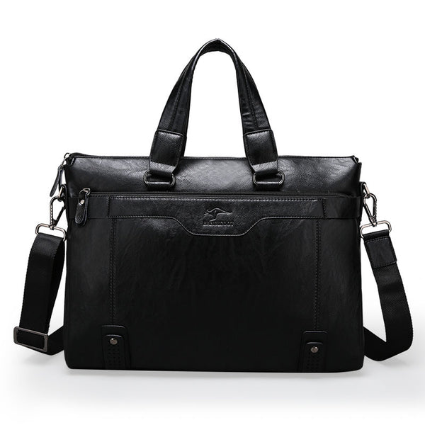 Casual Leather Laptop Briefcase