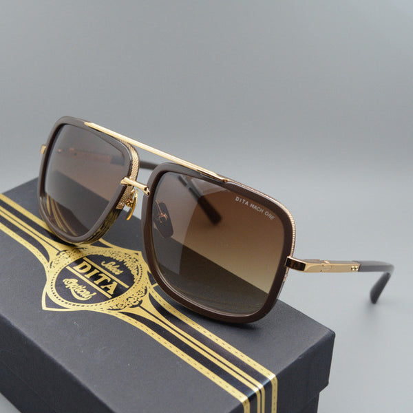 Dita 18K Gold Sunglasses With Case