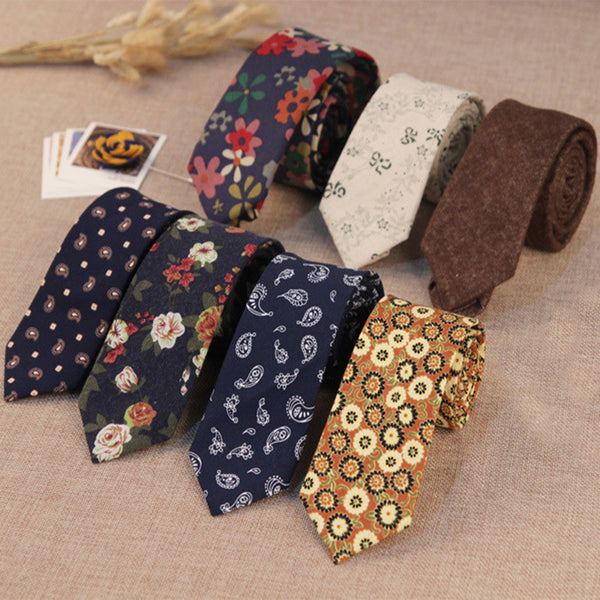 100% Cotton Ties - 18 Small Floral or Paisley Patterns