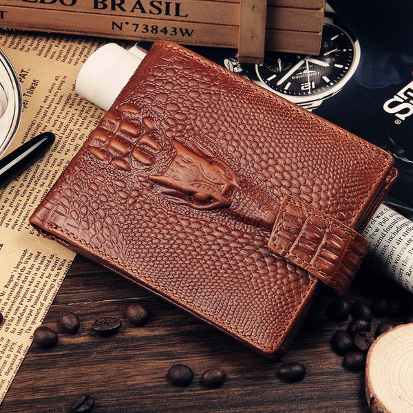 Alligator Embossed Leather Wallet