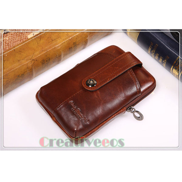 Oil Wax Leather Belt Phone Case
