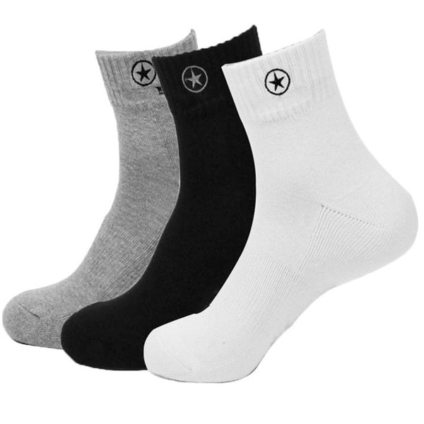 3 Pairs of Cotton Sport Socks - 4 colors
