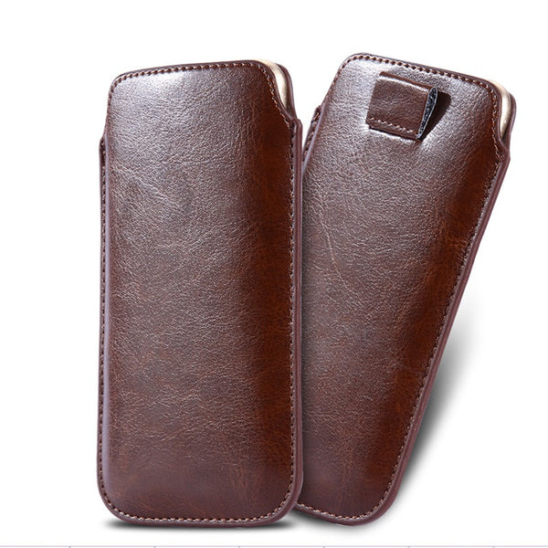 5.5inch Universal Leather Pouch Case For iPhone 6s Plus For Samsung Note 2/A7/A9/E7/j7 For Xiaomi redmi LG G2 G3 G4 Cover