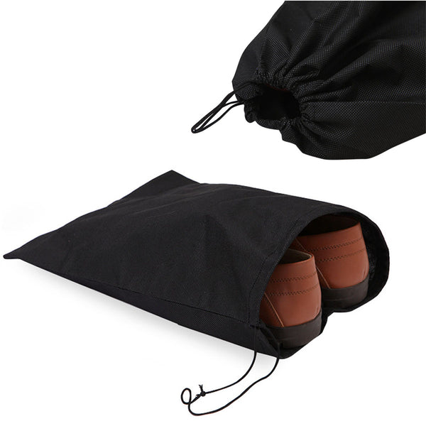 Canvas Drawstring Shoe Bags - 5 Pairs