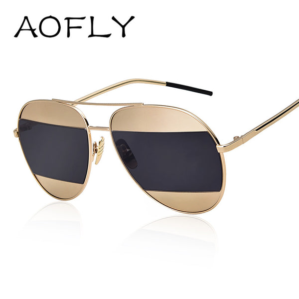 AOFLY Metal Frame Vintage Sunglasses