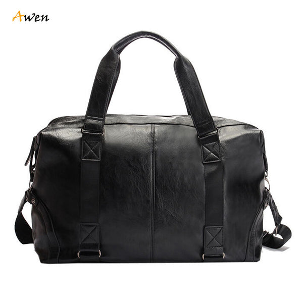 Large Leather Overnight Duffel
