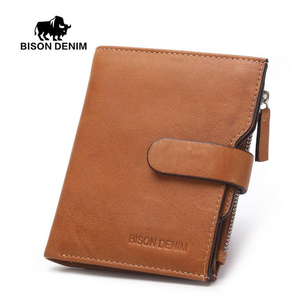 Bison Denim Bifold Wallet with Removable I.D. Case - Coin Pocket