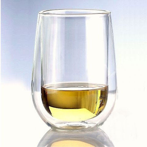 BODUMM Steady-Temp Double-Wall Chardonnay Chablis Stemless Wine Glasses (set of 2)
