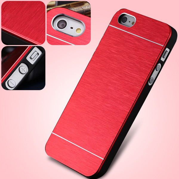 For iPhone 5 5S 5G Aluminum Plastic Hard Back Phone Cover