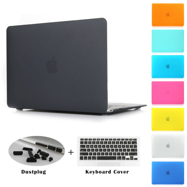 Crystal Clear Matte Rubberized Hard Case Cover - Macbook Pro 13.3 15.4 Pro Retina 12 13 15 inch Macbook Air 11 13