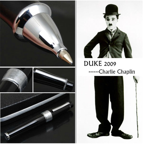 Charlie Chaplin Black Memorial Metal Rollerball Pen