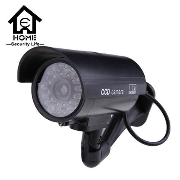 Dummy Camera - Weatherproof - Flashing Red LED Light