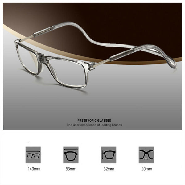 Folding Reading Glasses with Lariat - +100 - +400