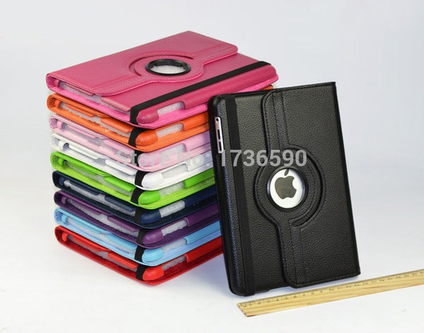For Ipad 2/3/4 Flip PU Leather Smart Stand Magnet 360 Degree Rotating Case Cover