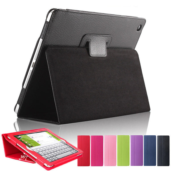 For ipad Air 1st Matte Litchi Surface Artificial Leather Cover With Auto Sleep /Wake Up