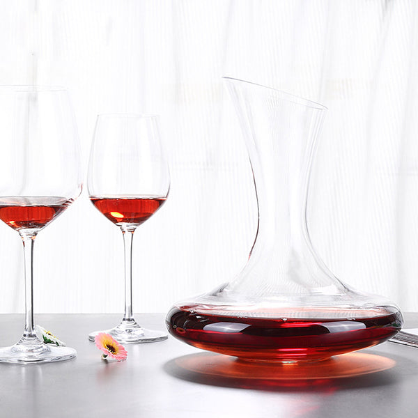 Glass Wine Decanter with Bevel Spout Wine Aerator