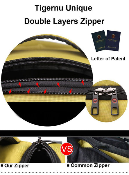 Patented Tigernu Backpack Design in Six Colors