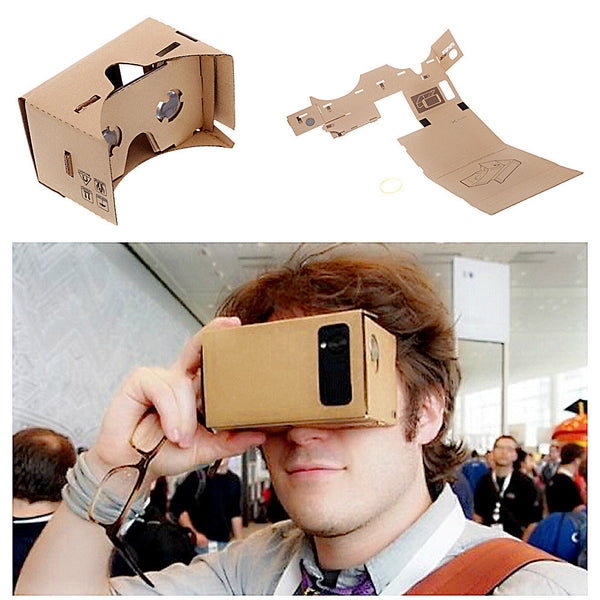 "High Quality Cardboard Virtual Reality Mobile Phone 3D Viewing Glasses for 5.0"" Screen"