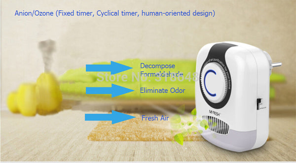 Home Ozone and Ion Air Purifier With Ozone Timer +  Night Light