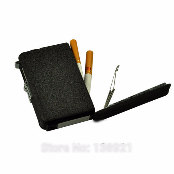 Metal Cigarette Case with Windproof Butane Jet Torch Lighter