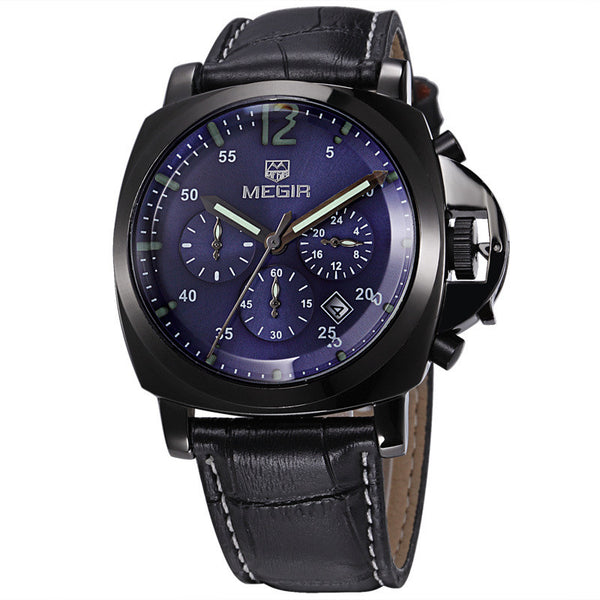 Chronograph Sport Watch - Genuine Leather