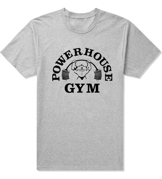 Powerhouse & Gold's Gym Large Logo T-Shirt - Short Sleeve - S - XXL