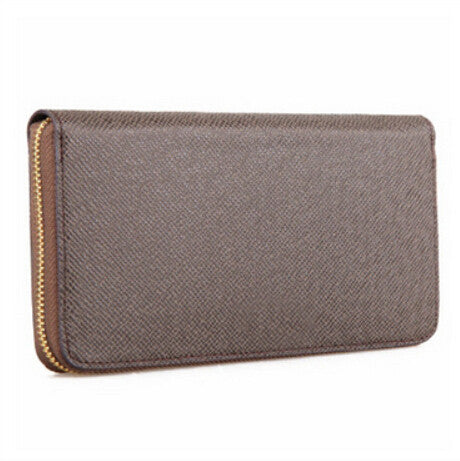 Crosshatch Leather Clutch Wallet