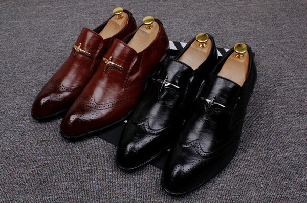 Business Leather Slip On - 2 Colors