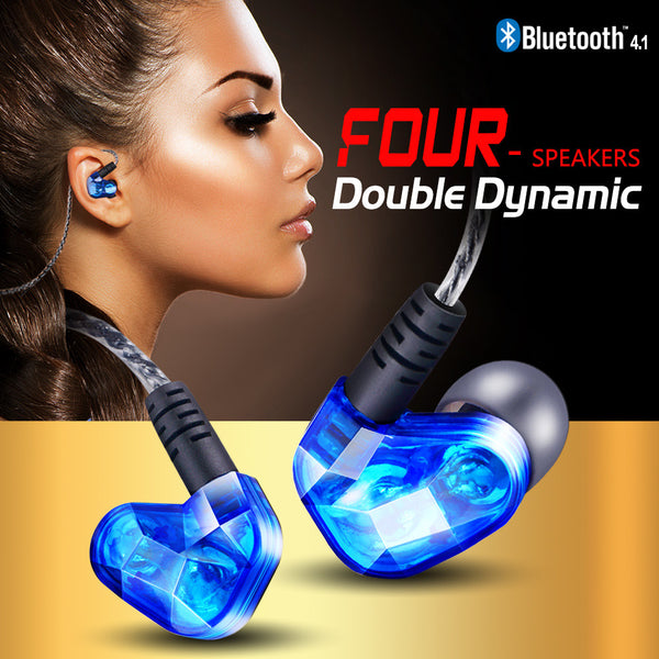 Double Dynamic Earbuds for Iphone LG Samsung xiaomi - 2 Colors