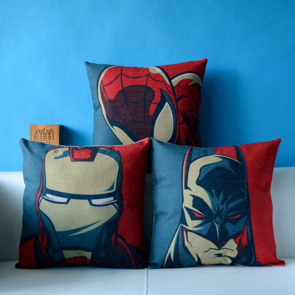 Avengers Justice League Linen Decorative Throw Pillow Covers