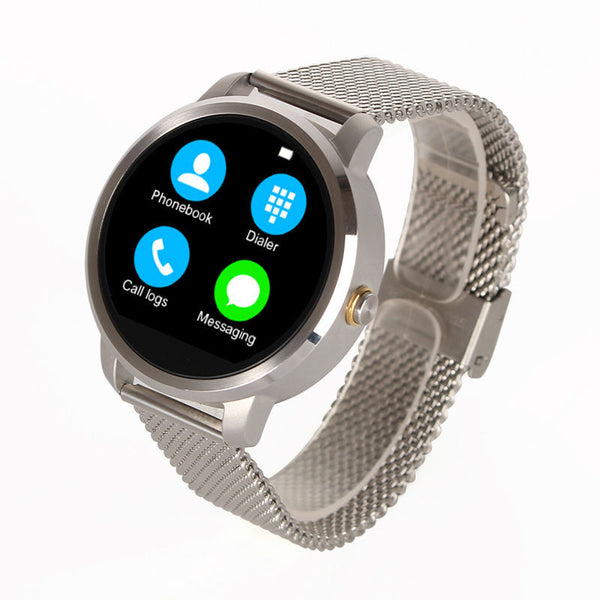 Bluetooth Smart Watch Round Style WristWatch Smartwatch for iPhone Samsung Android Smartphone