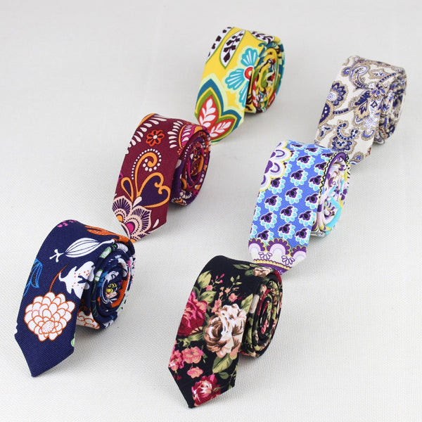 100% Linen Necktie in Casual Patterns - 19 Colors/Patterns