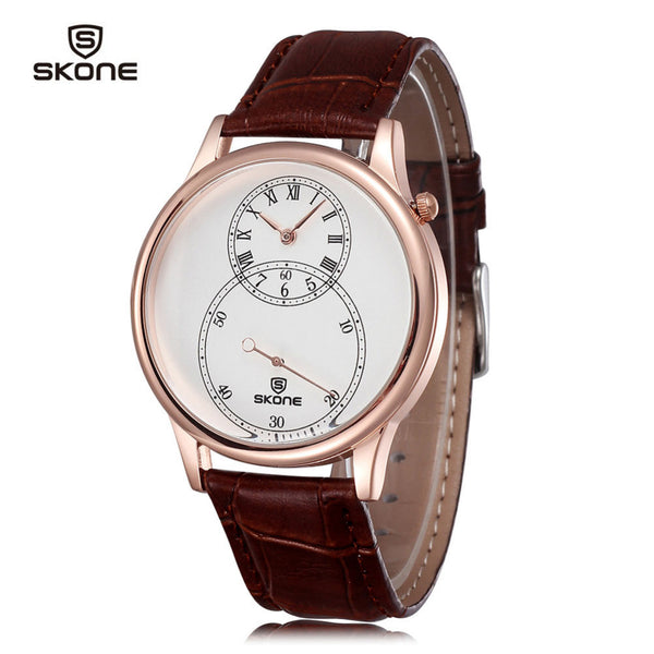 Casual Waterproof Quartz Leather Wristwatch