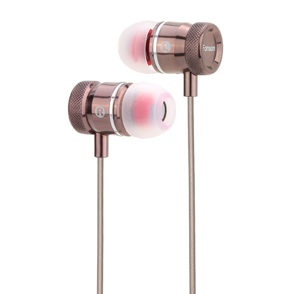 3.5mm Audio Plug Earbud - Noise Isolating With Microphone for Samsung Galaxy - 3 Colors