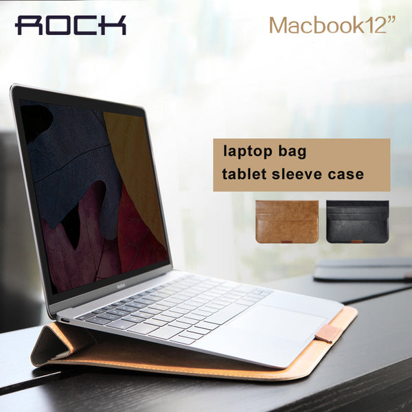 "Case Turns Into Stand For MacBook air 11""12""13""  - PU Leather"