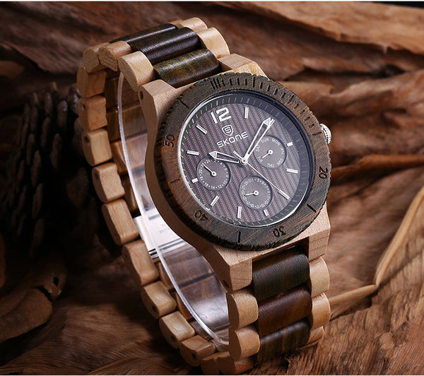 Natural Maple Wood Quartz Watch