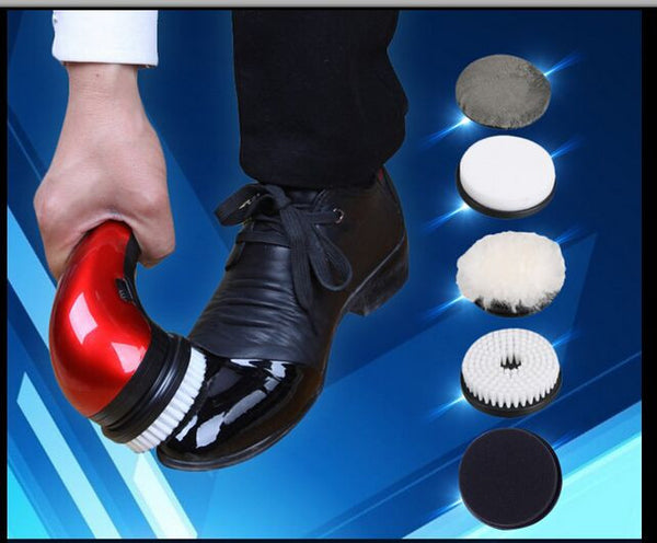Electric Hand Held Shoe Polisher - 2 Colors
