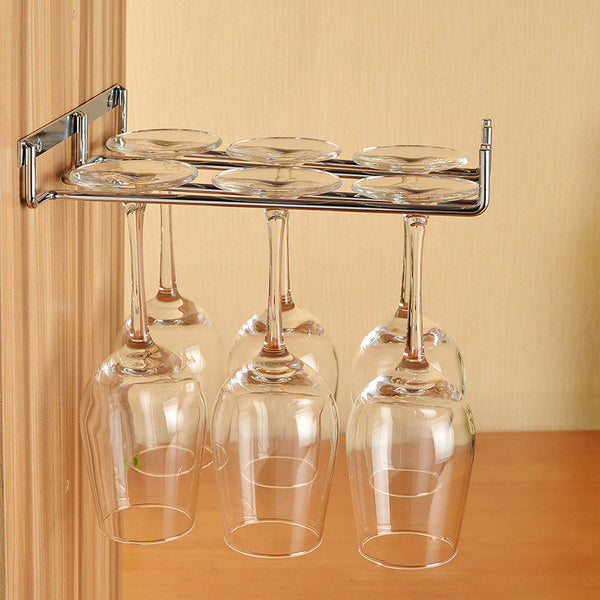 Silver/Gold -  Single or Double Row Stainless Steel Wine Rack