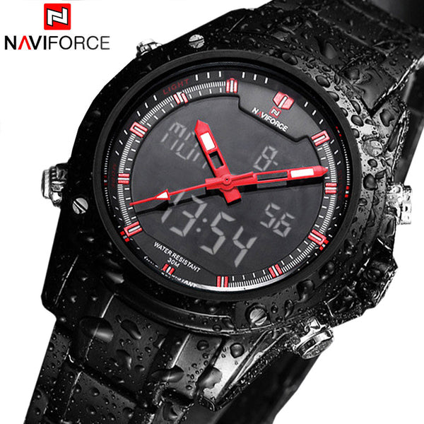 Quartz NAVIFORCE Military Watch - Full Steel