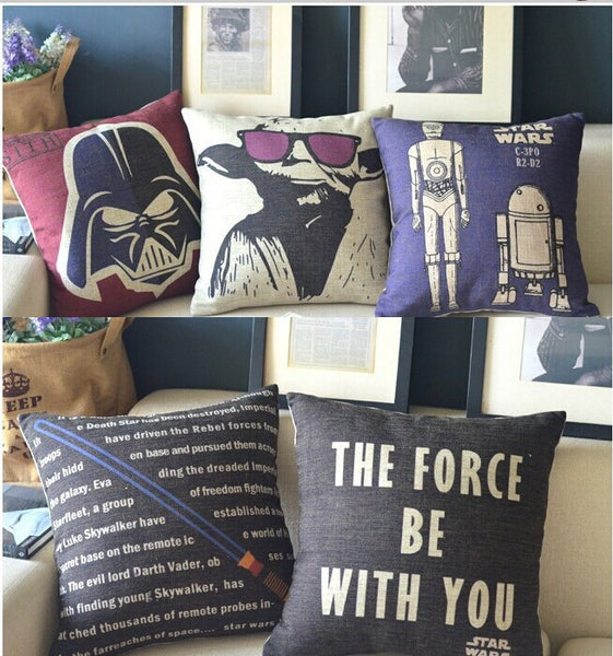 Star Wars Movie Poster Throw Pillow Covers