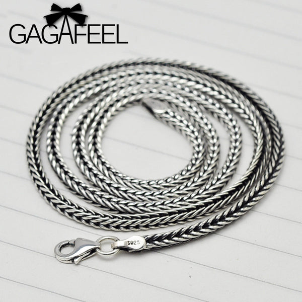 100% Real Pure 925 Sterling Silver Necklace