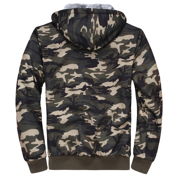 Camo Hooded Parka - M - 4XL