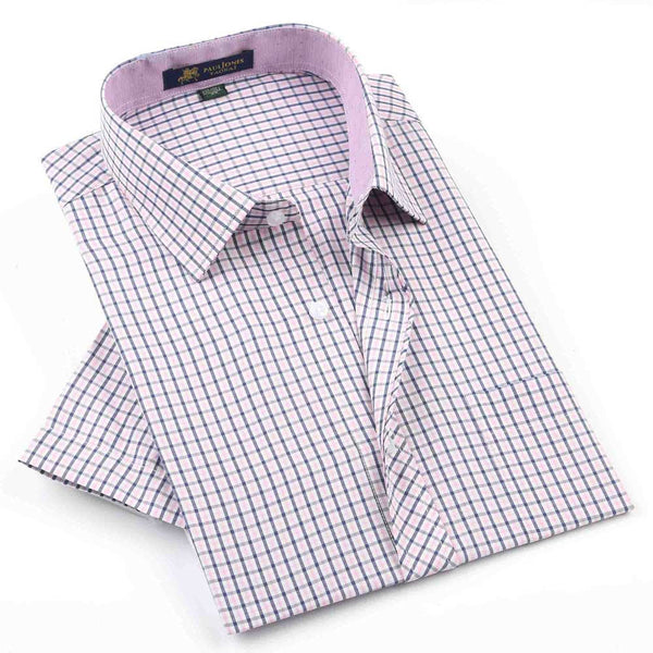 Casual Plaids in Short Sleeves - S - XXXXL
