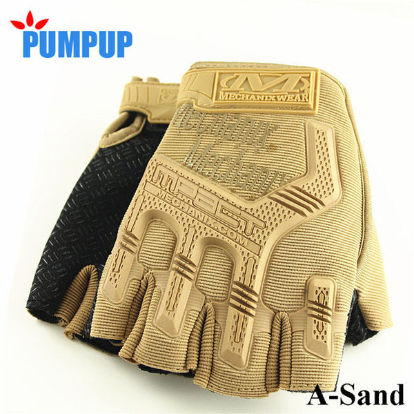 Fingerless Tactical Anti-Slip Cut-Resistant Gloves - L - XL