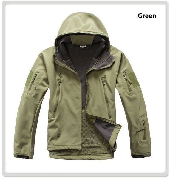 Shark Skin Soft Shell Waterproof Windproof Camouflage Jacket - S - XXXL