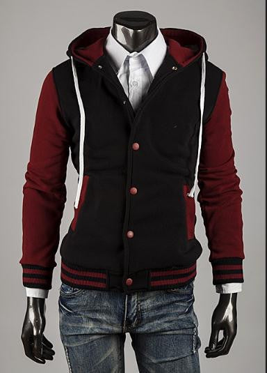 Retro Design Baseball Jacket Snap Front - M - XXL