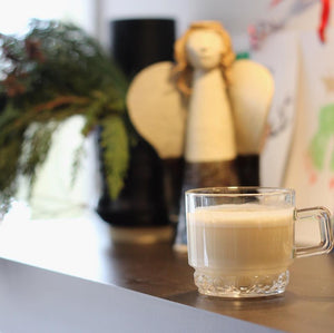 Green Tea Latte: Vegan, Sugar-Free Eggnog Replacement