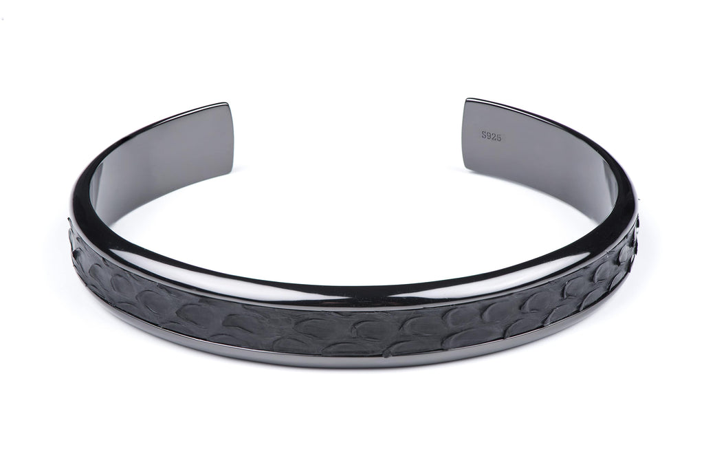 High quality photo shoot of gunmetal python cuff